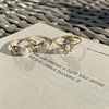 vintage ringen goud met parels en opaal