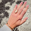 gouden camee ring vintage cameo groot
