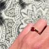 gouden granaat ring solitair januari edelsteen