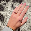 vintage gouden robijn ring bloem