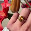 gouden ring met citrien vintage goud