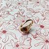 vintage gouden ring granaat hartje filigrain hartvorm steen