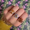 vintage sieraden ringen met citrien en gele saffier van sieradenmeisje