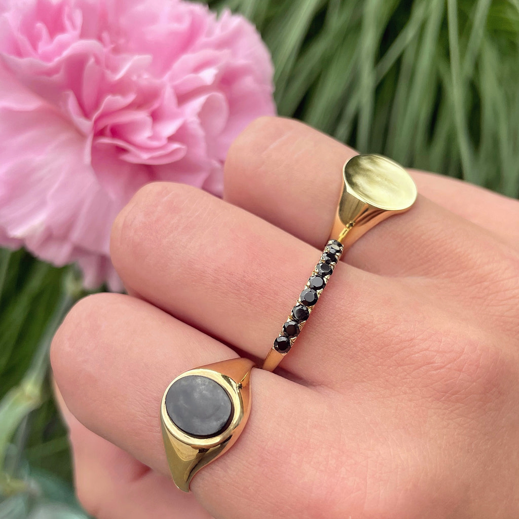 gouden zegelring dames onyx ringen vintage