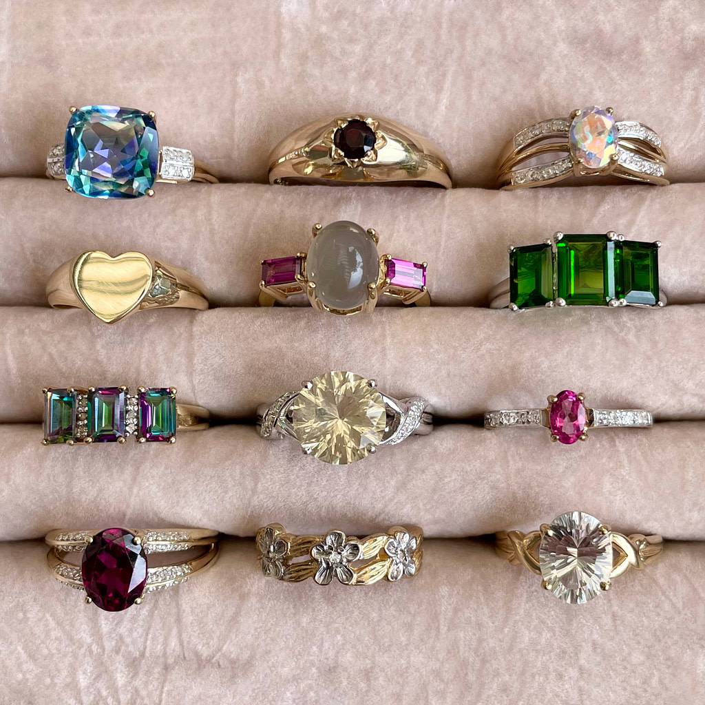 vintage gouden ringen sieraden collectie
