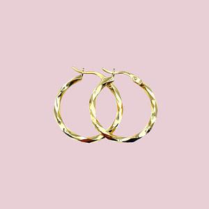 gouden oorringen gedraaid vintage oorbellen van goud