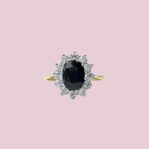 gouden cluster ring lady di met zirkonia