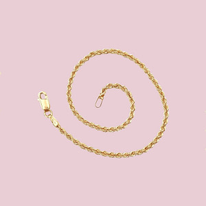 gouden koord armbandje dames 9 karaat goud