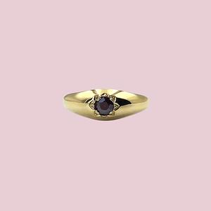 granaat gypsy ring van goud