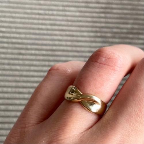 vintage ring unwrap me goud