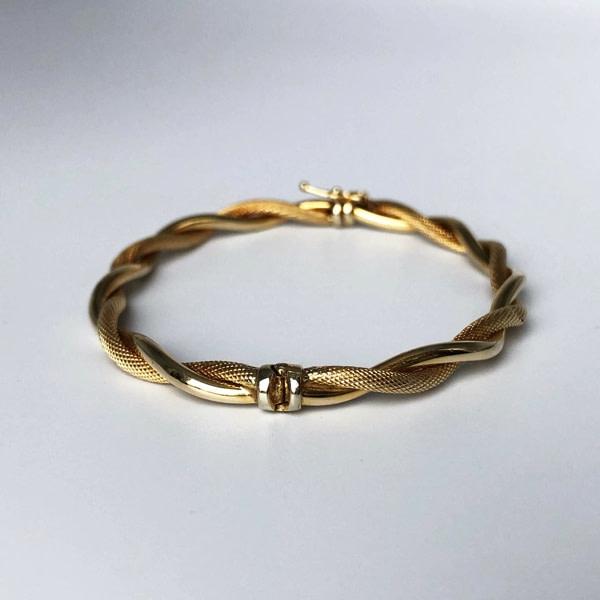 vintage bangle slavenarmband goud