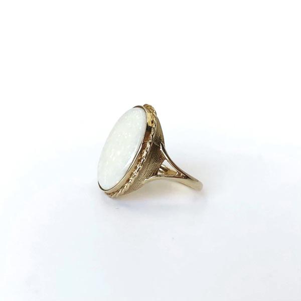 vintage ring grote opaal