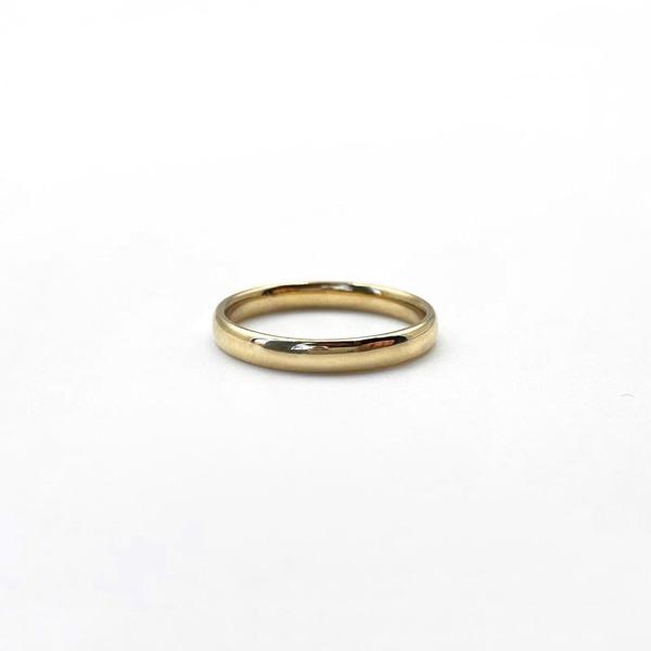 eenvoudige gouden stacking ring