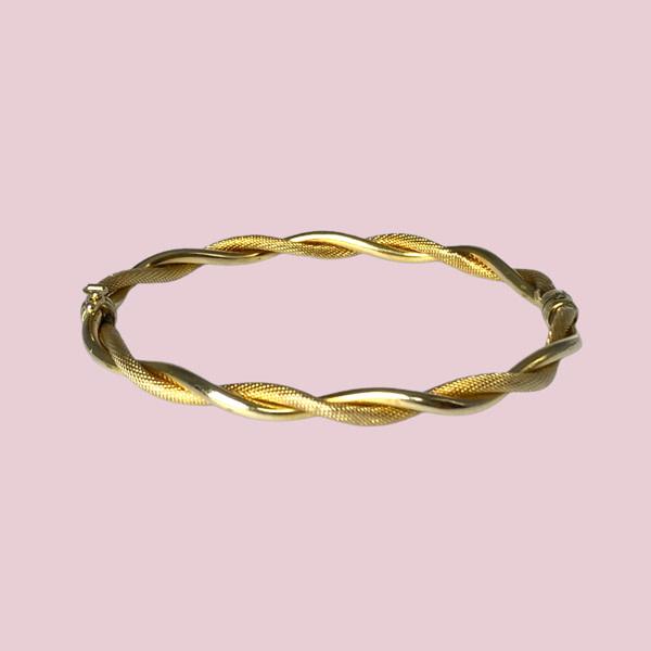 twisted bangle 9 karaat goud armband