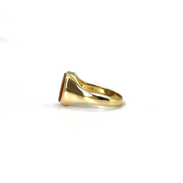 tijgeroog signet ring goud