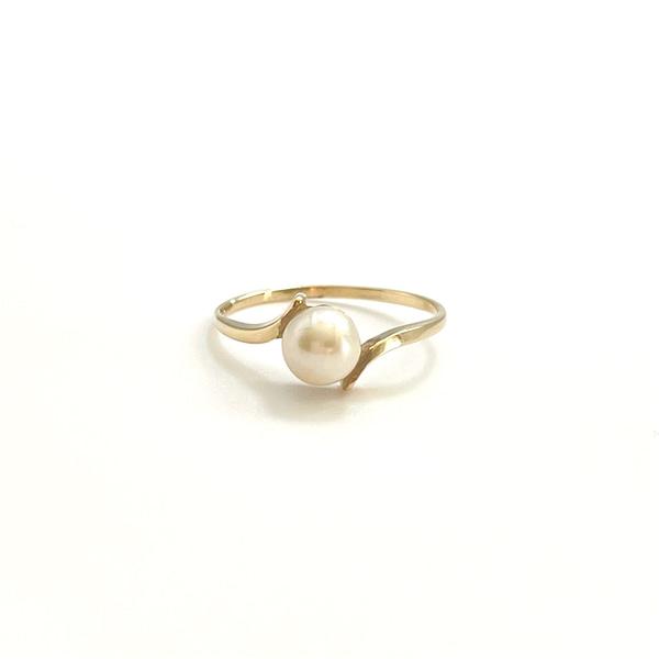 parelring vintage goud 9 karaat ring