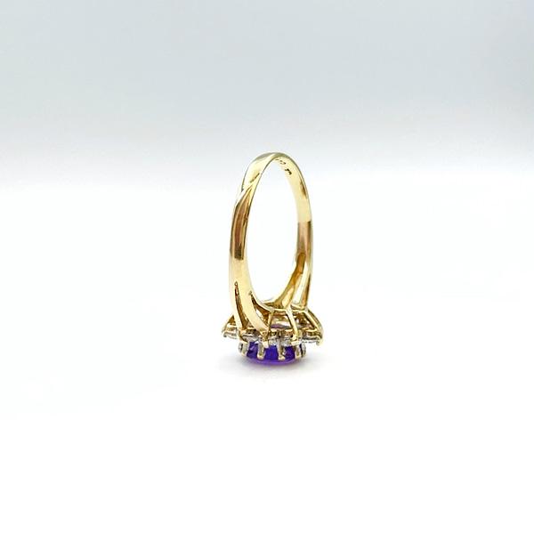 amethist cluster ring 9 karaat goud