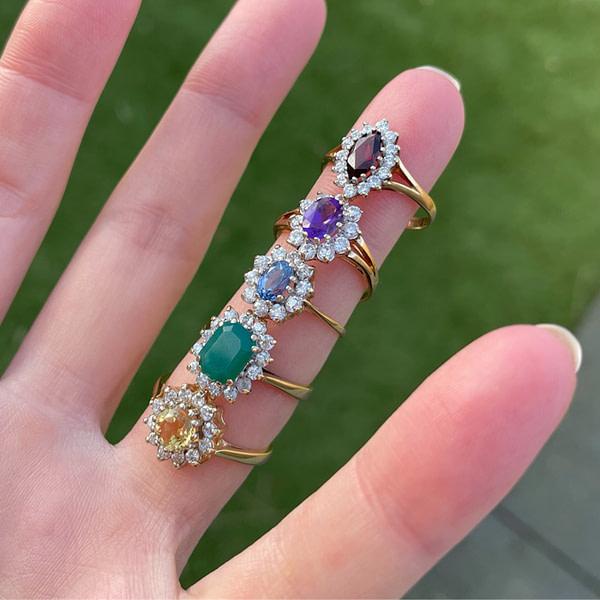 entourage ringen met edelsteen cluster ringen sieradenmeisje