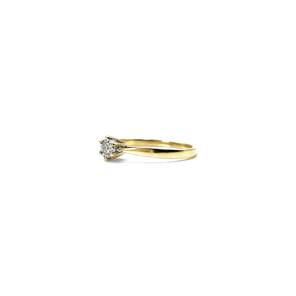 gouden ring met diamant 0.05 ct tweedehands vintage