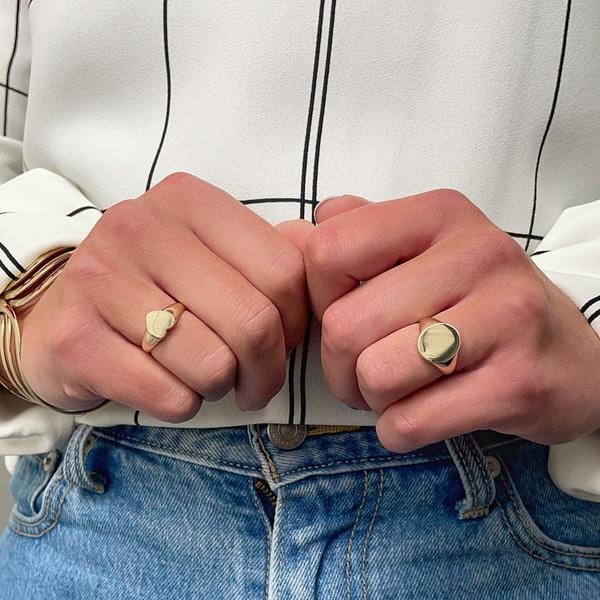 gouden zegelring dames signetring goud