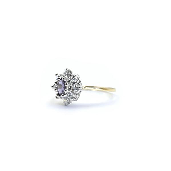 gouden lady di ring vintage cluster ringen