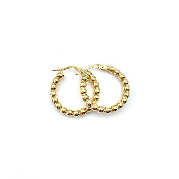 gouden oorbellen bolletjes oorringen van goud bubble hoops