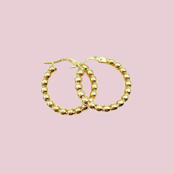 gouden oorringen bubbels of bolletjes oorbellen