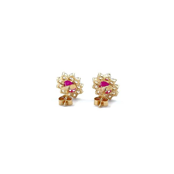 gouden oorbellen robijn