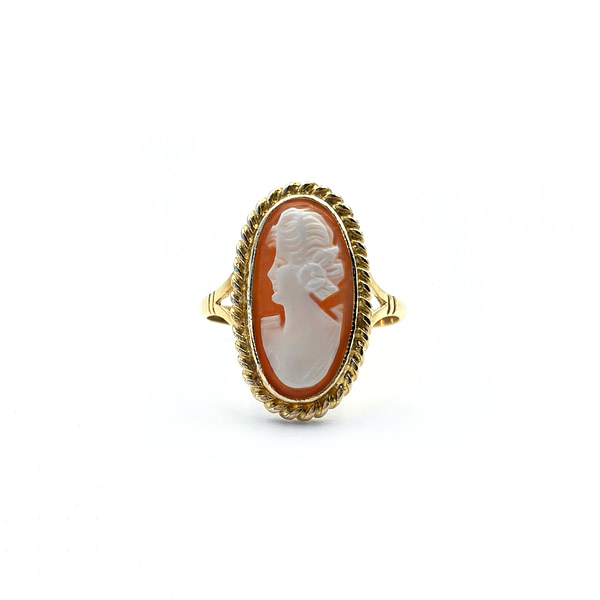 gouden camee ring vintage gouden ringen cameo