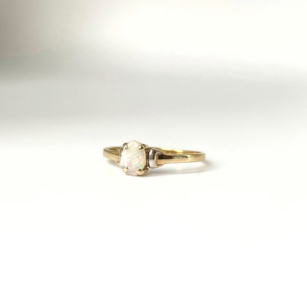 vintage gouden opaal ring