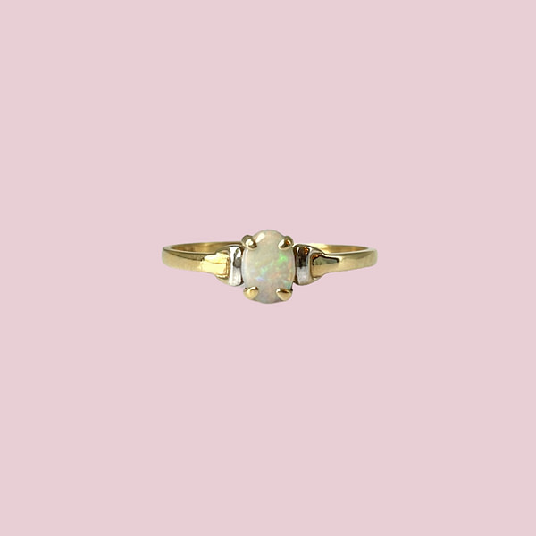 gouden opaal ring vintage