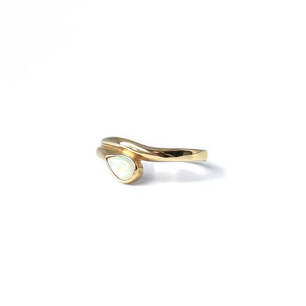 vintage ring met opaal gouden snake ring