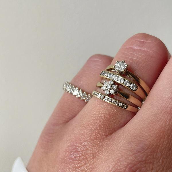vintage gouden ring met diamant