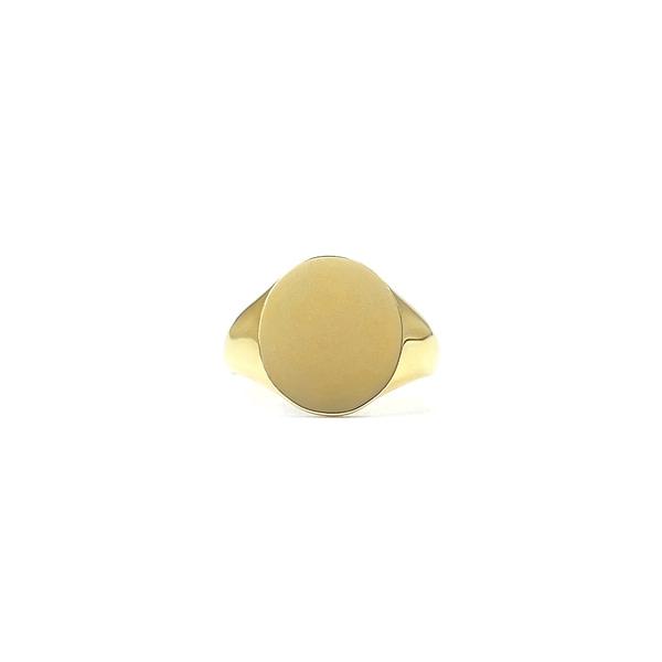 gouden zegelring dames ovaal signet ring goud