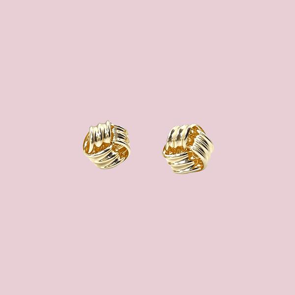 gouden oorbellen knoopje studs goud