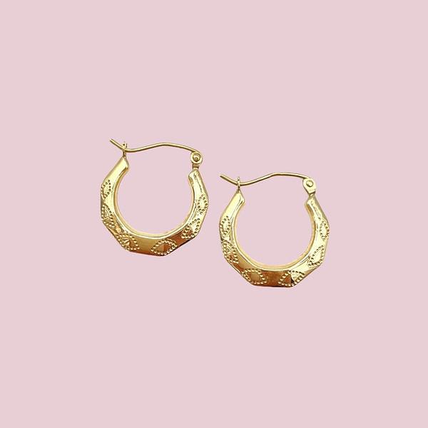 vintage gouden oorringen creolen van goud