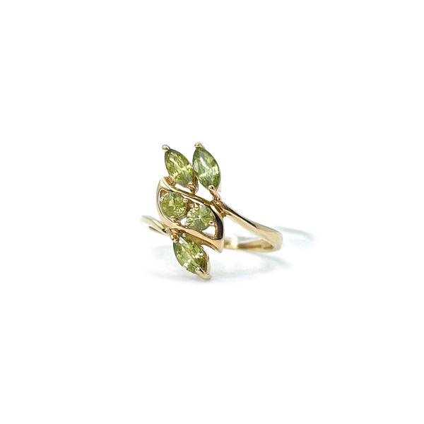 vintage ring met groene saffier korund vintage
