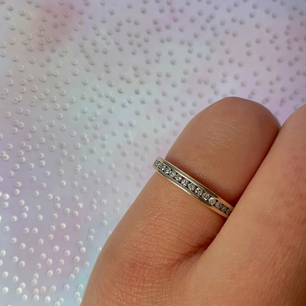 vintage eternity ring diamant 0.15ct