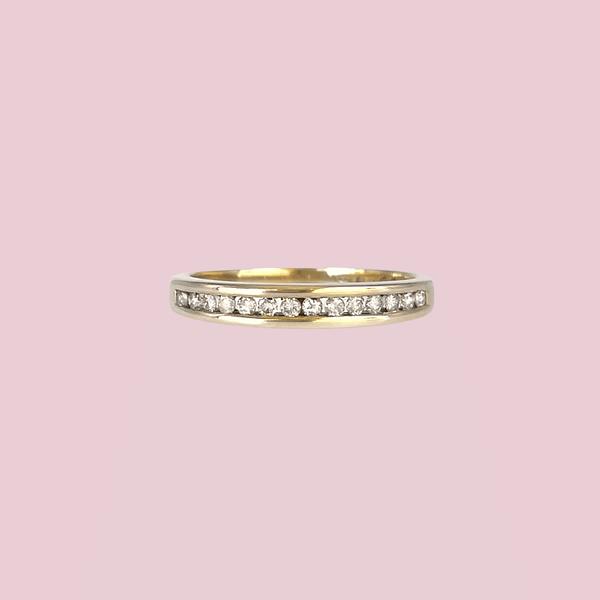vintage eternity ring 0.15ct diamant