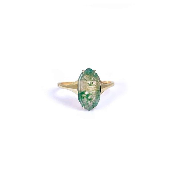 vintage ring mosagaat goud