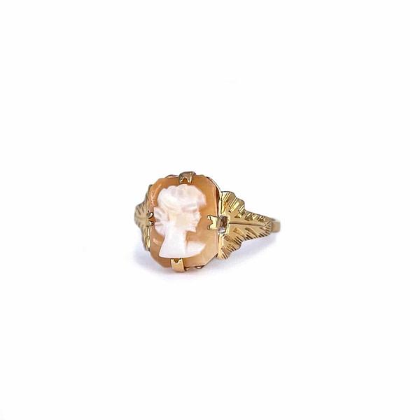 vintage camee ring van goud cameo ring