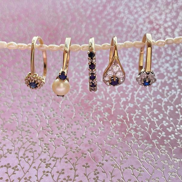gouden ringen met saffier en diamant