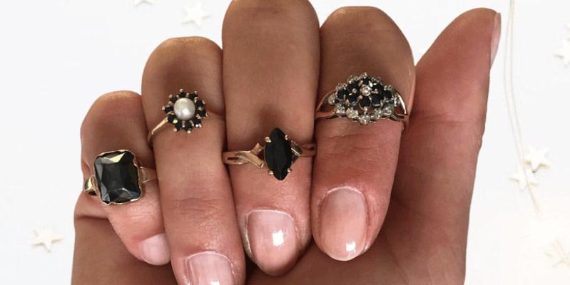 vintage sieraden herfst inspiratie saffier ringen