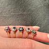 vintage ringen goud met edelsteen bloemetjes