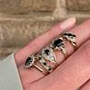 vintage ringen zwarte saffieren en diamant