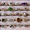 vintage ringen in ringdoos